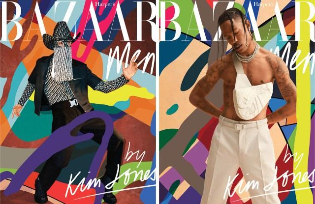 Two of Kim Jones' Harper's Bazaar covers.