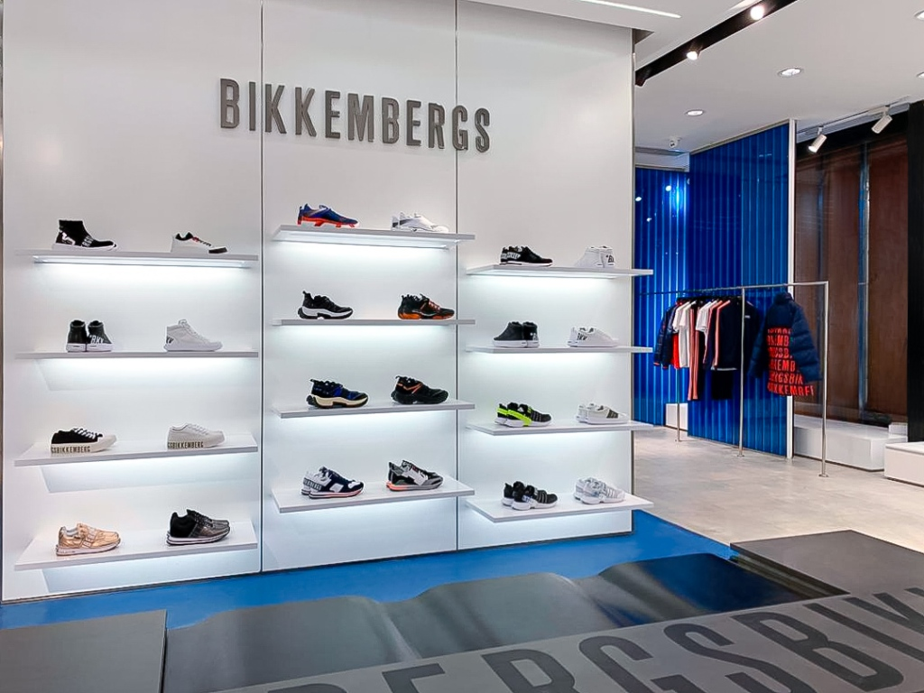 Bikkembergs new store at Chongquing's Raffle City shopping center