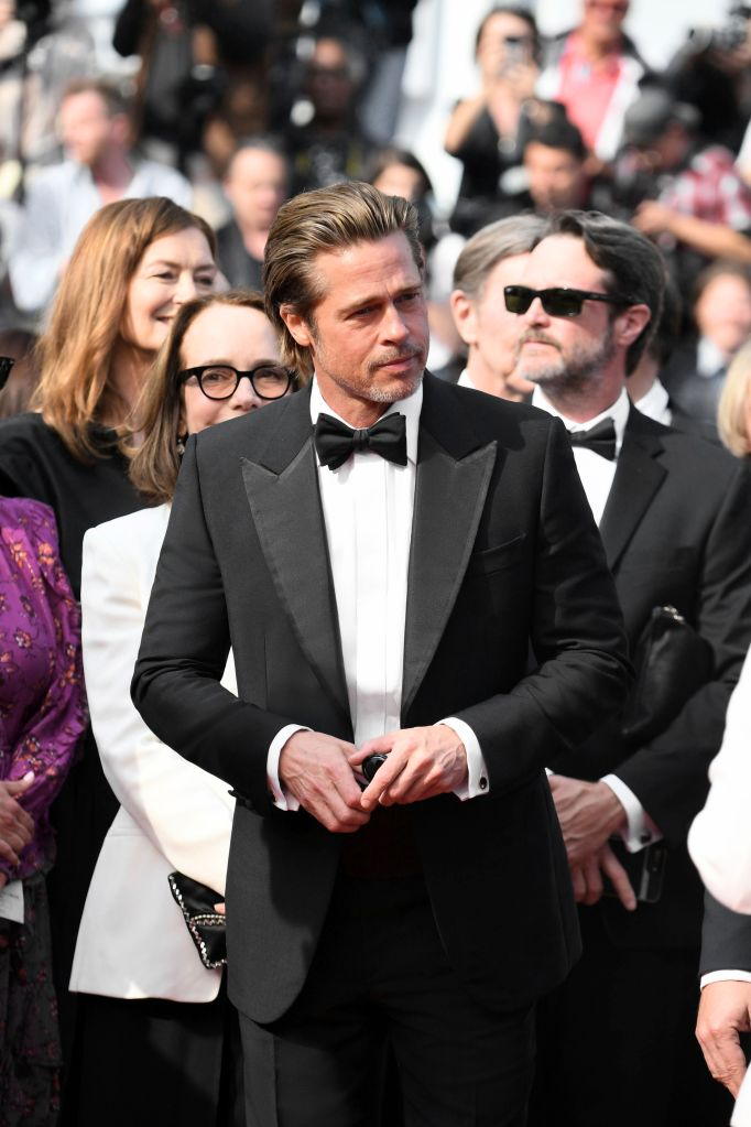"Brad Pitt wearing Brioni at the screening of ""Once Upon A Time In... Hollywood"" at the 72nd Cannes Film Festival."
