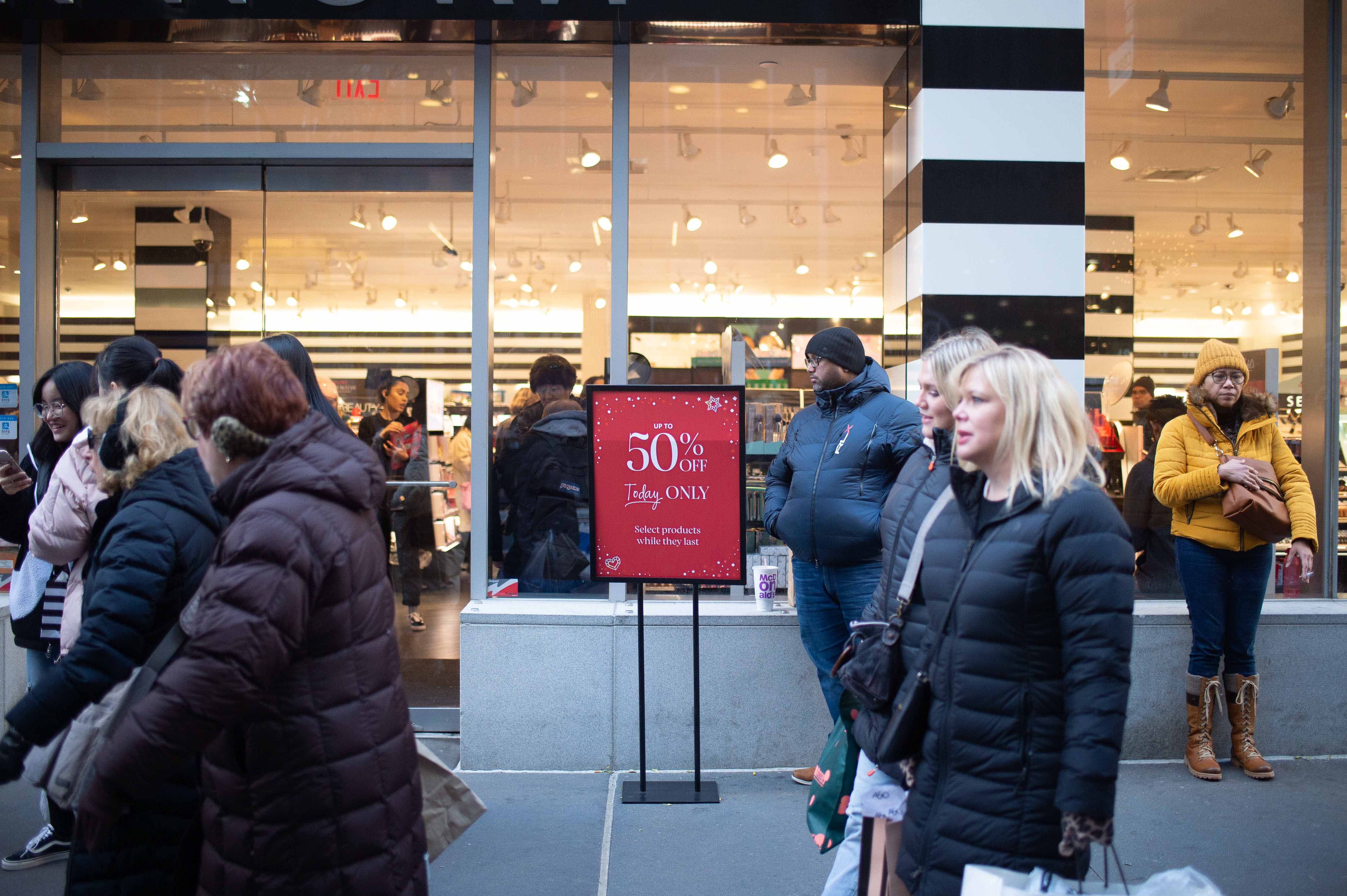 Shoppers on Black Friday in New York City.