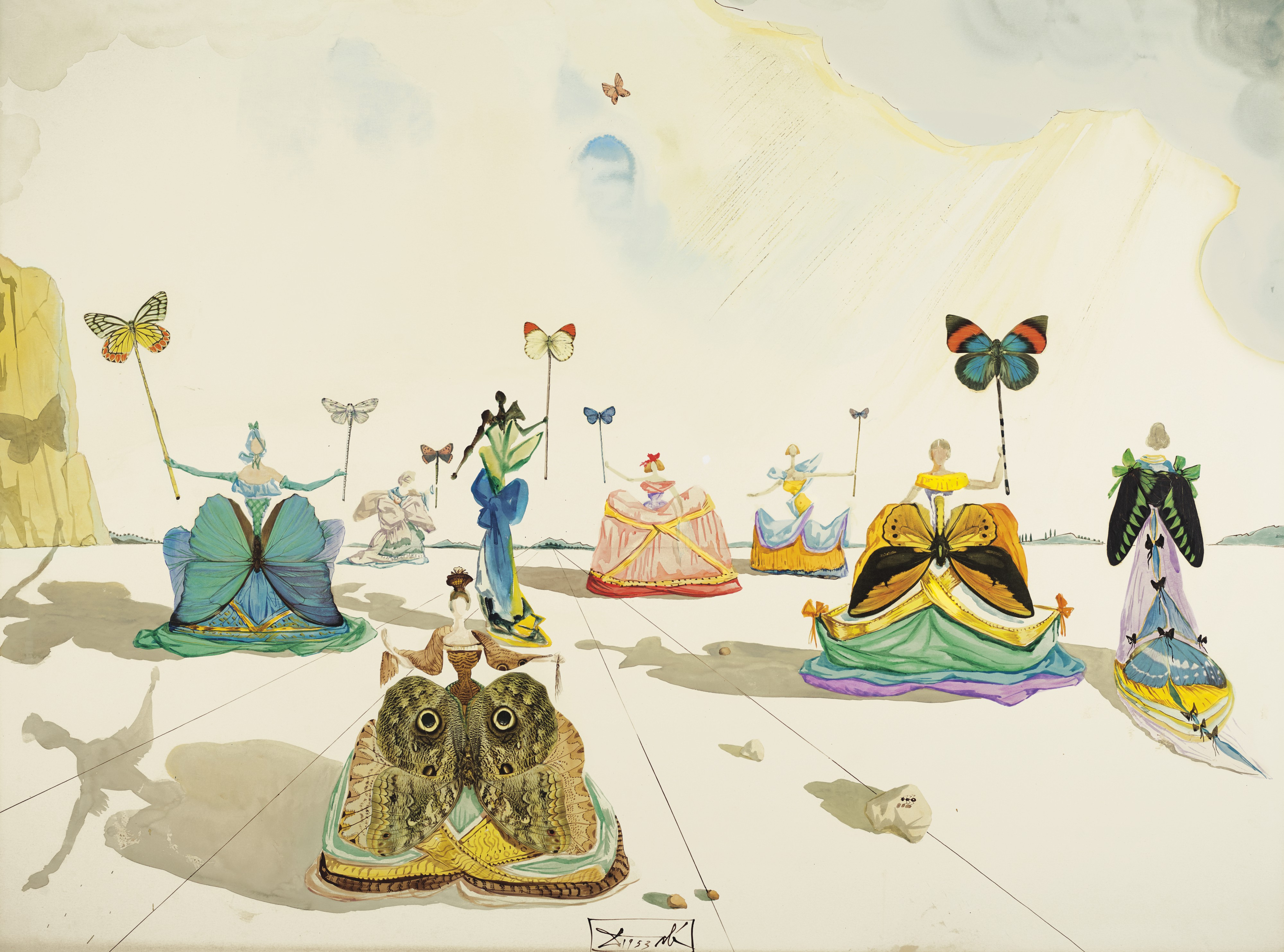 """Salvador Dalí's """"Femmes aux papillons"""" previously belonged to Eleanor Lambert."""