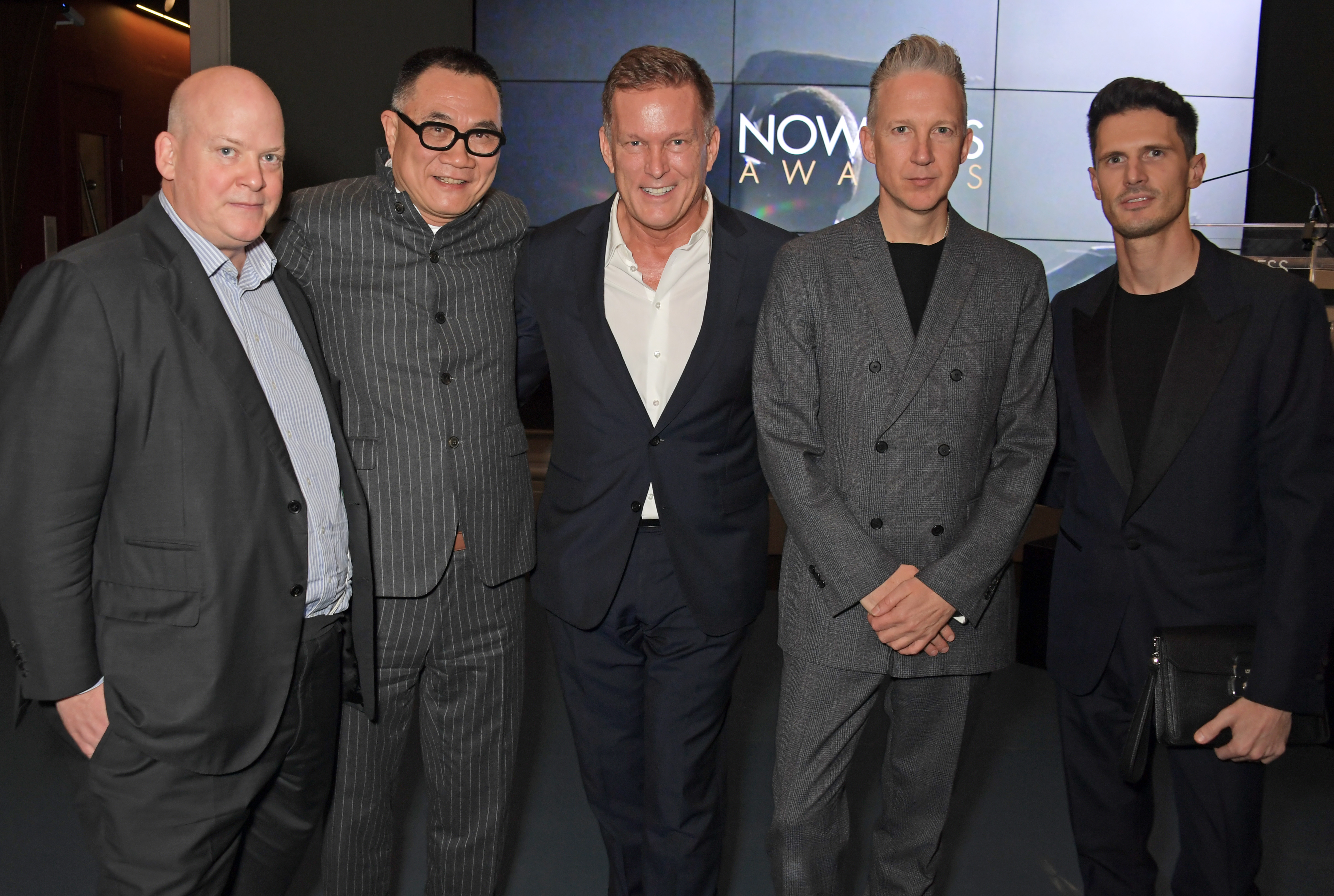 (L to R) Christopher Zanardi-Landi, Thomas Shao, Andrew Maag, Jefferson Hack and guest attend The Nowness Awards ceremony.
