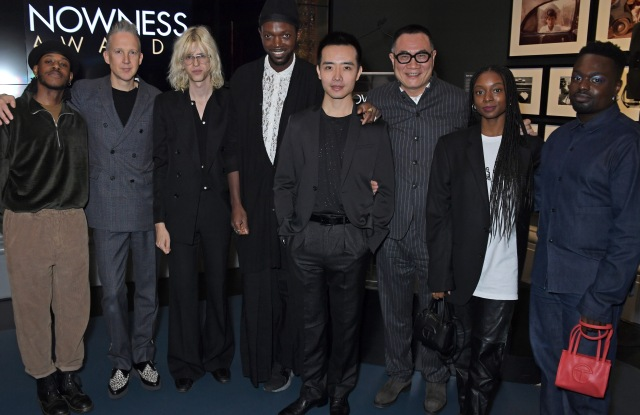 (L to R) Ivan Blackstock, Jefferson Hack, Bunny Kinney, Baloji, Hao Zheng, Thomas Shao, Rhea Dillon and Campbell Addy attended The Nowness Awards reception at the V&A.