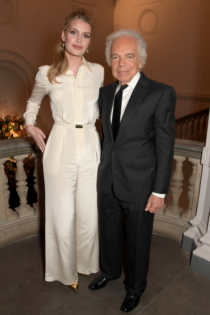 LONDON, ENGLAND - NOVEMBER 14: Lady Kitty Spencer and Ralph Lauren attend the UK Premiere of 'Very Ralph' at Royal Academy of Arts on November 14, 2019 in London, England. Pic Credit: Dave Benett