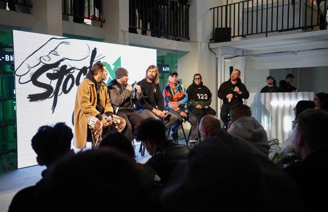 Michael Dupouy, Josh Luber, Pedro Winter, Angelo Baque, Ruba Abu-Nimah and talk moderator Pascal Monfort.