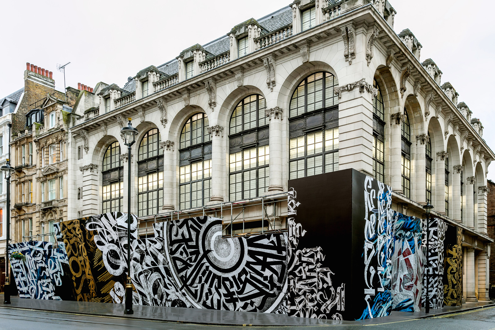 Exterior of Dover Street Market as it celebrates its 15 year anniversary