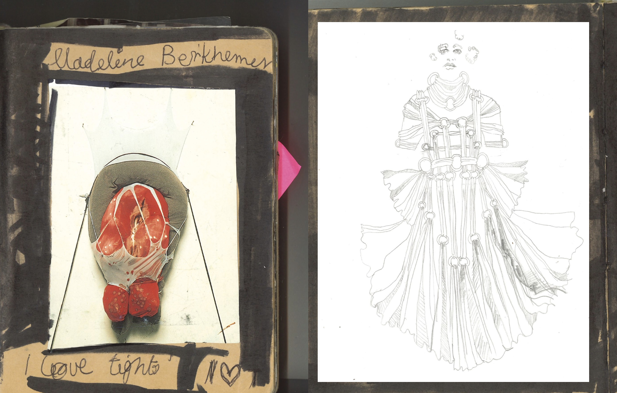 Early illustrations by Christopher Kane in 1 Granary issue six