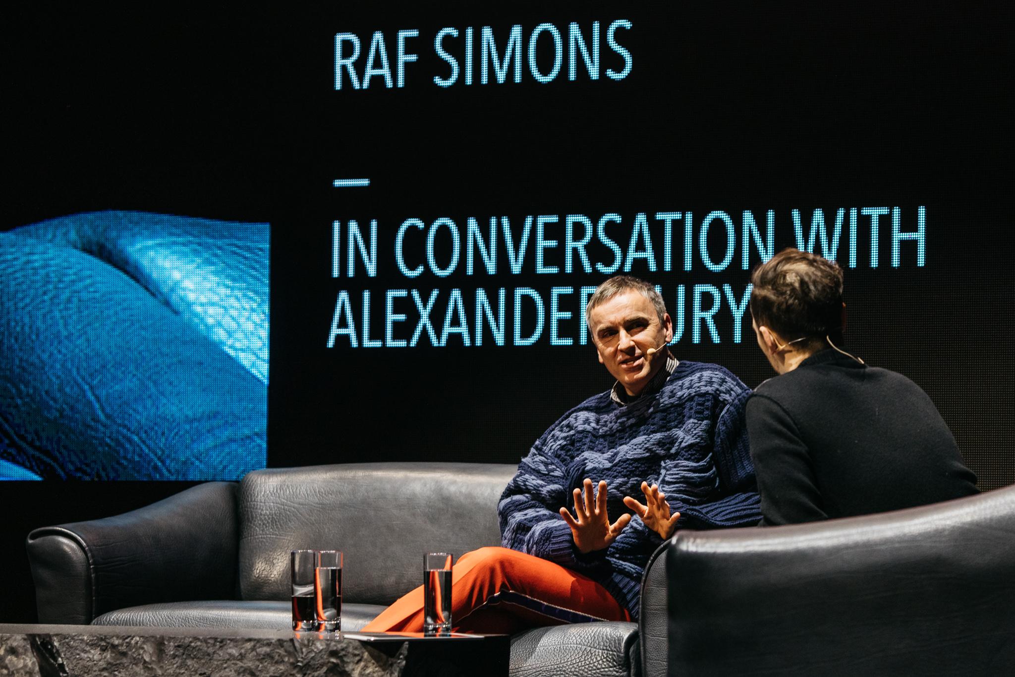 Raf Simons at Fashion Talk
