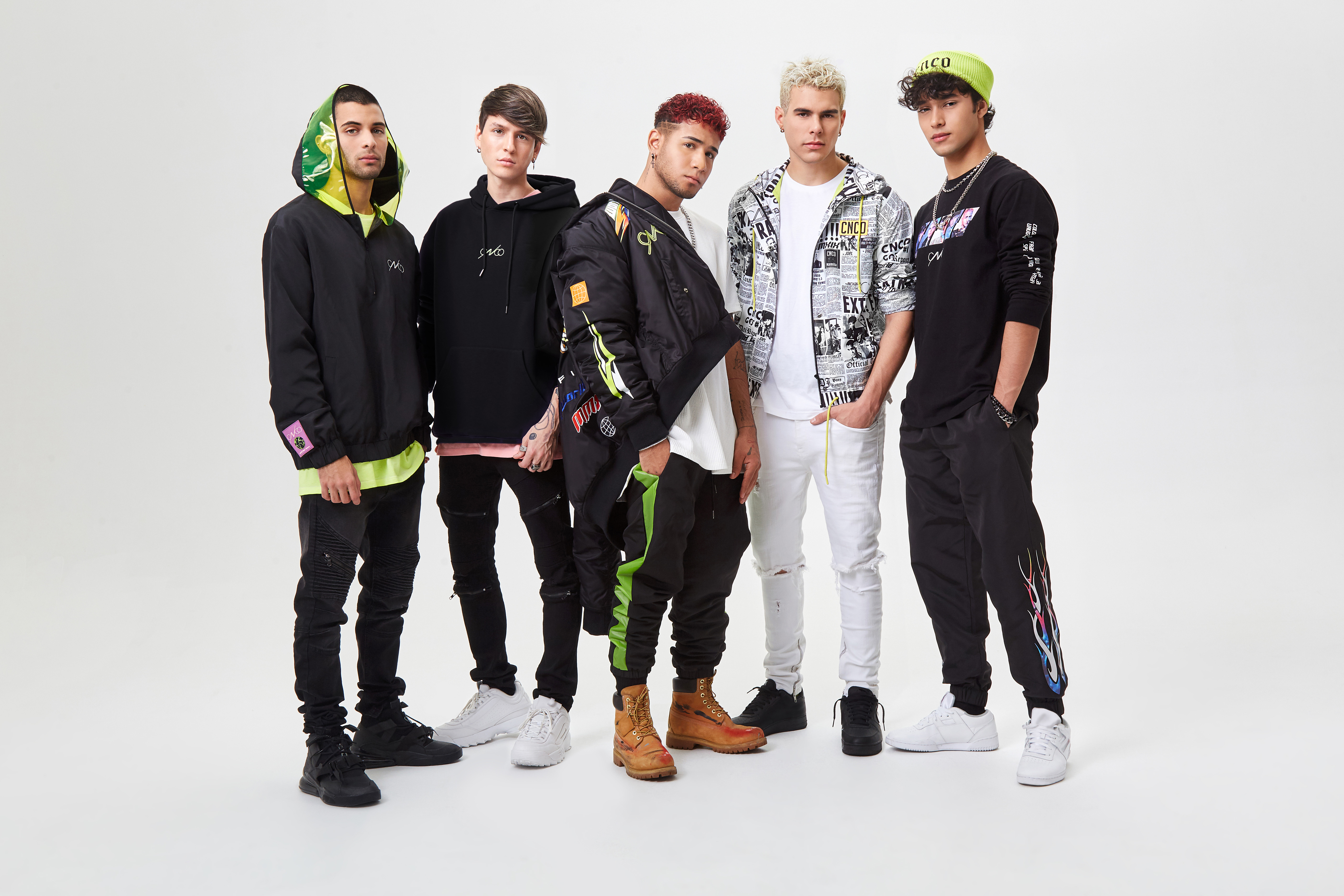 CNCO in the Forever 21 x CNCO collection