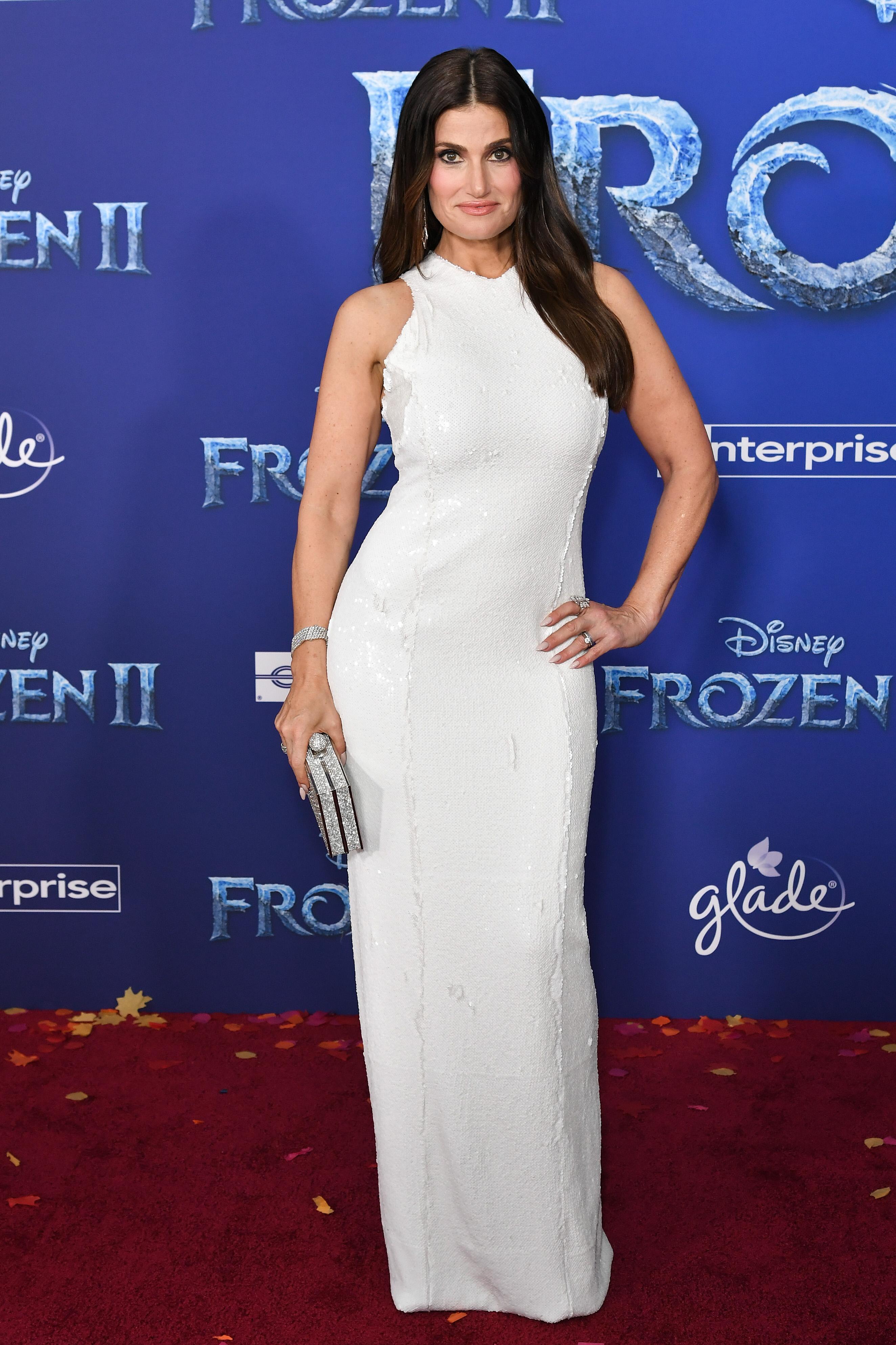 Idina Menzel'Frozen II' film premiere, Arrivals, Dolby Theatre, Los Angeles, USA - 07 Nov 2019Wearing Galvan