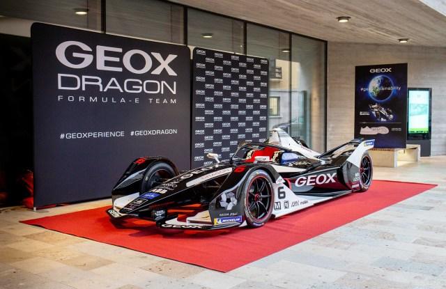 Geox Dragon's Penske EV-4 racing car for the 2019-20 ABB FIA Formula E championship.