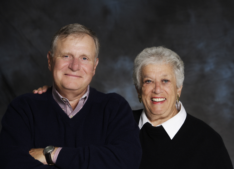 Gert Boyle with her son Tim.