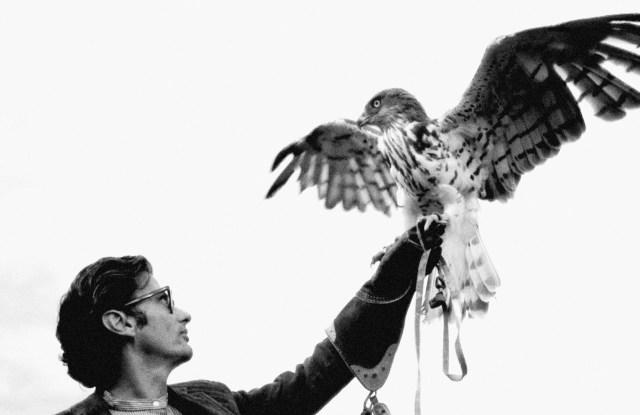 Richard Avedon and Eagle, Ireland1969.