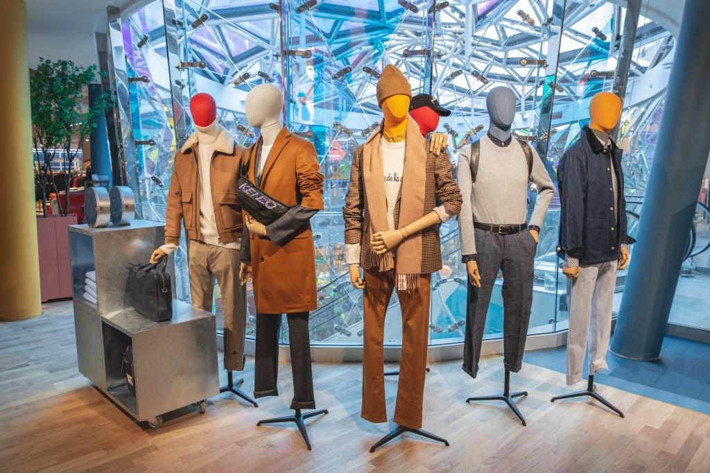 The men's wear floor at Galeries Lafayette Beaugrenelle.