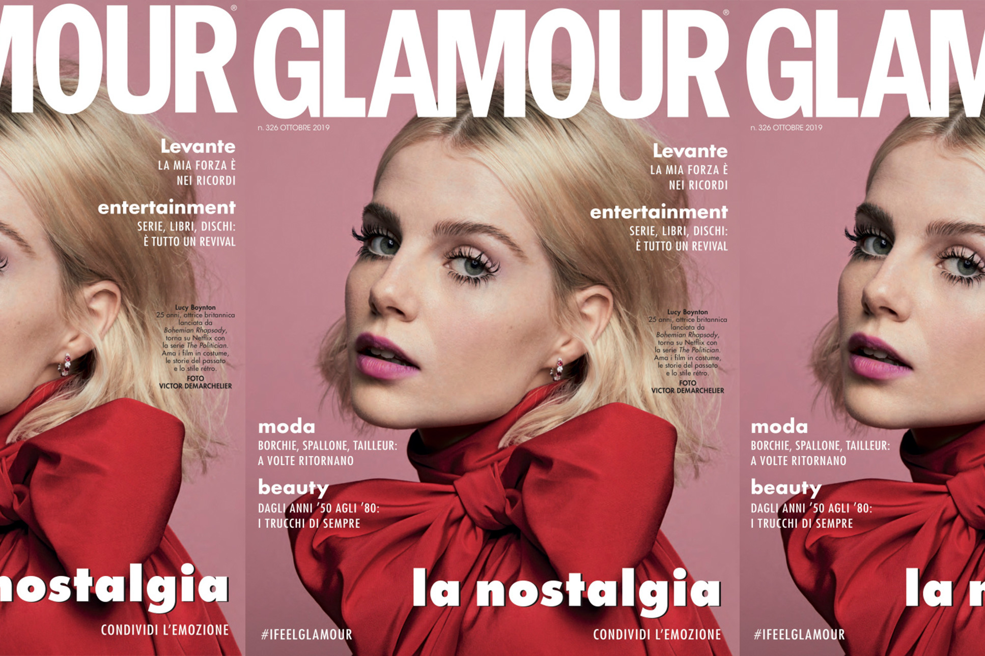 Glamour Italy's October issue.