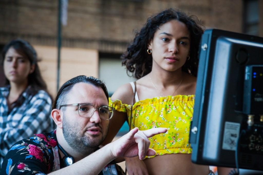 """Angelfish"" director Peter Andrew Lee and Destiny Fraqueri aka Princess Nokia."