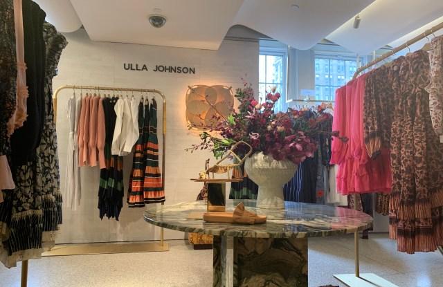 The Ulla Johnson shop-in-shop at Bergdorf Goodman.