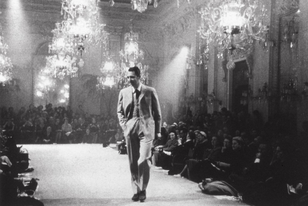 The first ever men's runway show was held by Brioni at Palazzo Pitti in Florence in 1952.