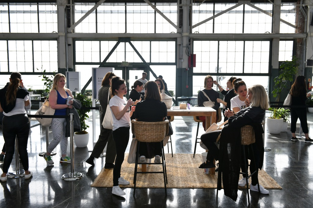RICHMOND, CALIFORNIA - NOVEMBER 16: Guests attend the In goop Health Summit San Francisco 2019 at Craneway Pavilion on November 16, 2019 in Richmond, California. (Photo by Ian Tuttle/Getty Images for goop)