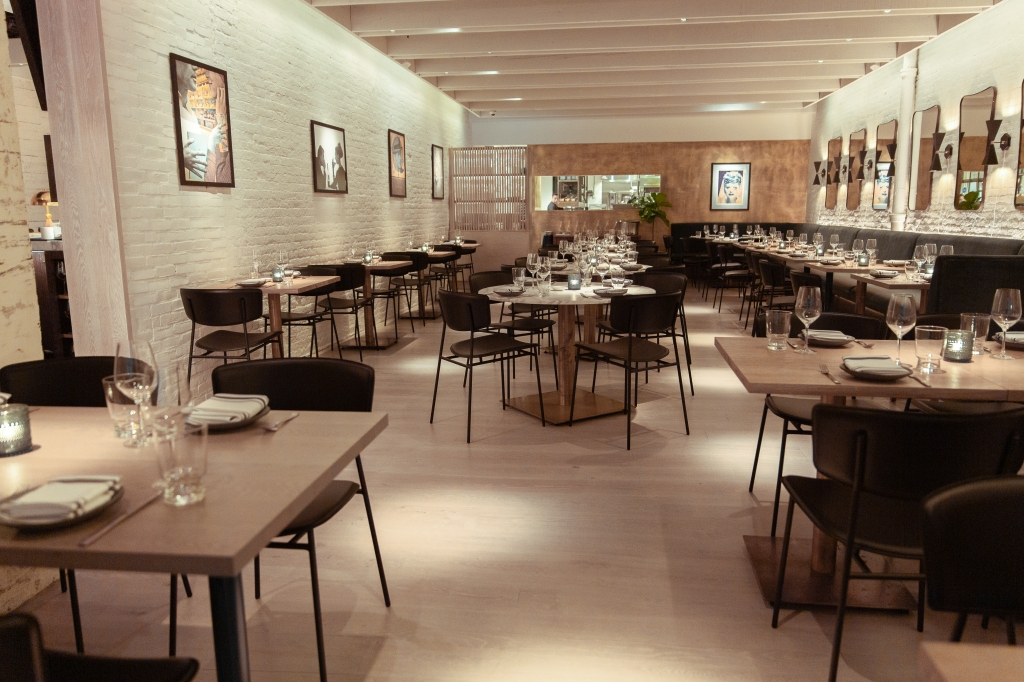 The dining room at Portale