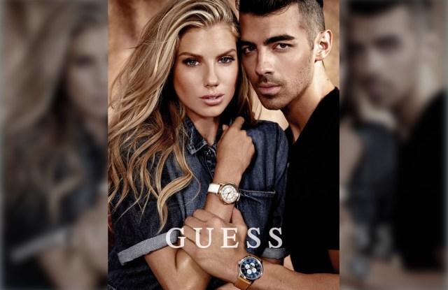 Joe Jonas and Charlotte McKinney for GUESS Watches 2017