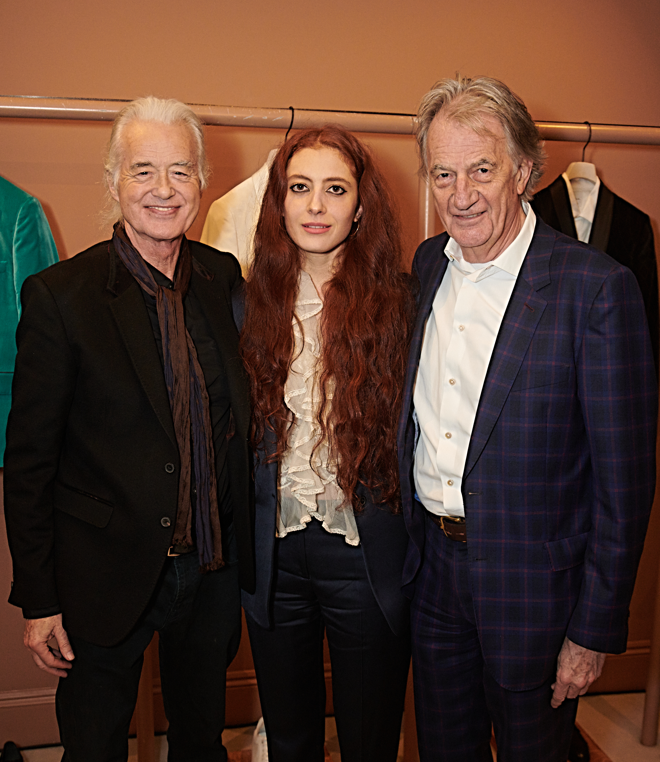 Jimmy Page, Scarlett Sabet, and Sir Paul Smith at the Matches townhouse in London.