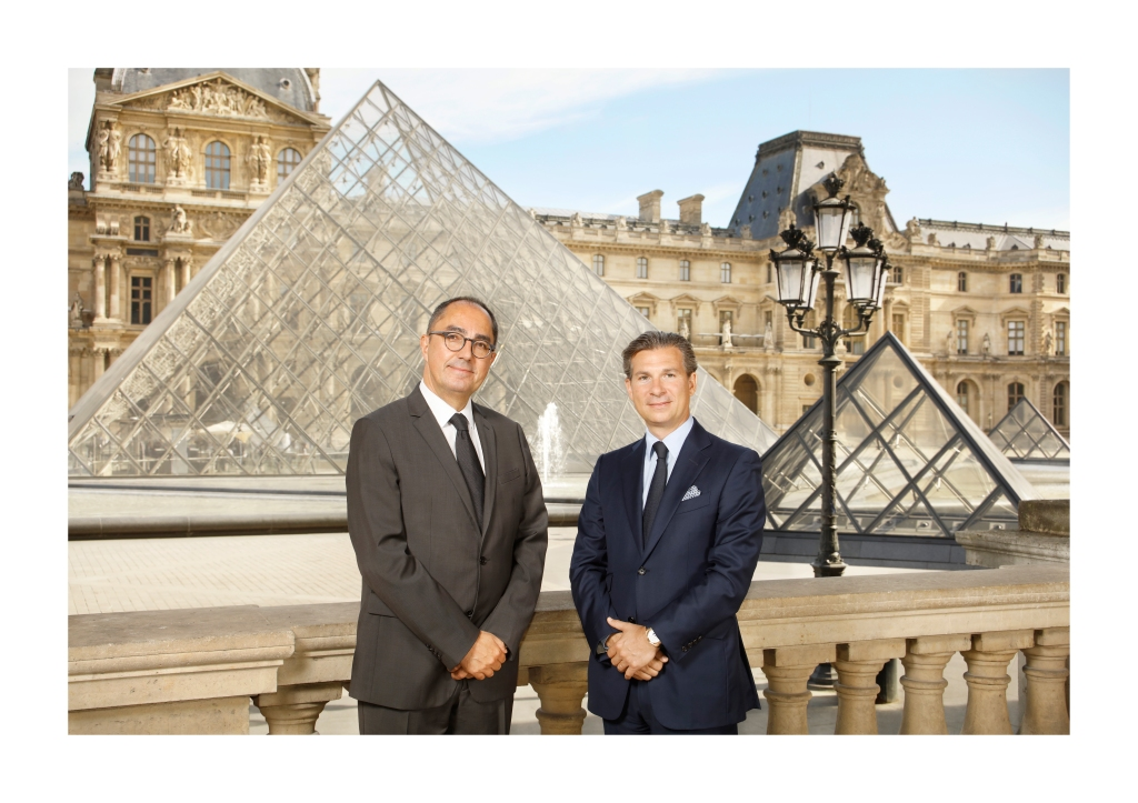 Jean-Luc Martinez of the Louvre and Louis Ferla of Vacheron Constantin