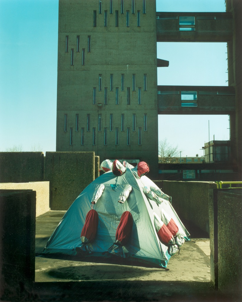 Refuge Wear Intervention, London East End 1998 by Lucy + Jorge Orta
