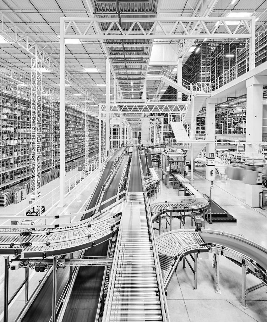 Inside Mango's logistics plant located in Lliçà D'amunt, Spain.