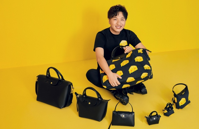 Mr. Bags with his Longchamp 2020 exclusive collection