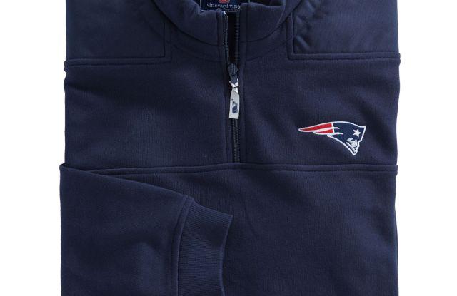 A Vineyard Vines New England Patriots shirt.