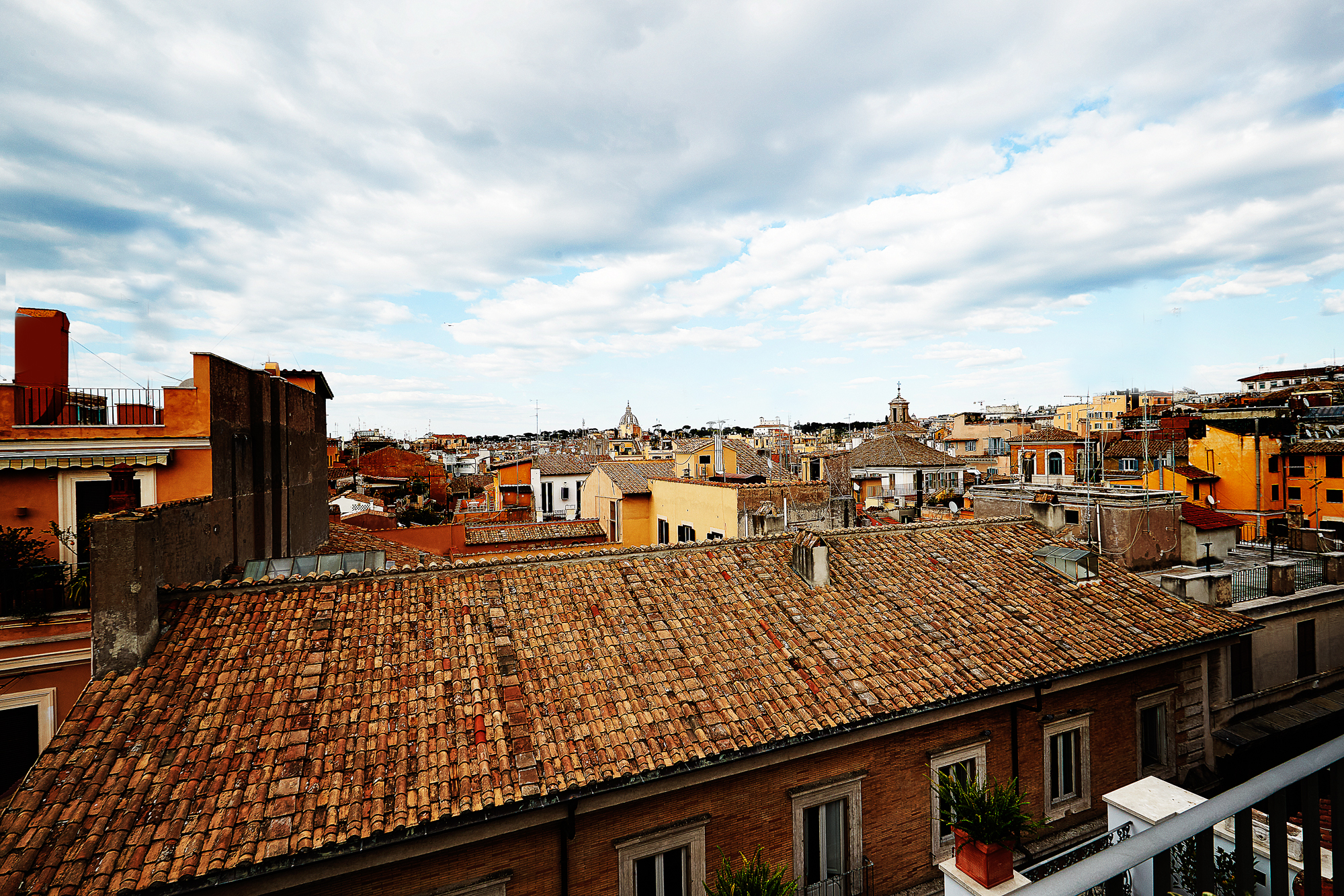 The view from the Palazzo delle Pietre in Rome.
