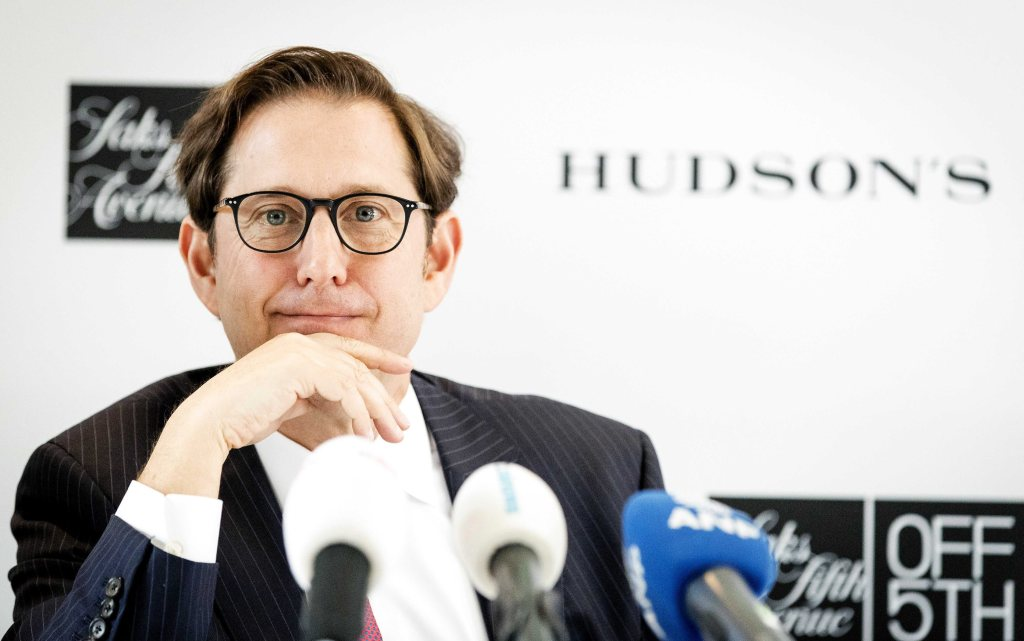 The Governor and Executive Chairman of the Hudson's Bay Company Richard Baker During a Press Conference in Amsterdam the Netherlands 17 May 2016 the Canadian Department Store Chain Hbc Wants to Open Twenty Branches in the Netherlands in the Next Two Years Hudson Bay who Are Looking Into Buying Dutch Department Store Chain V&d Netherlands AmsterdamNetherlands Canada Economy Hudson's Bay - May 2016