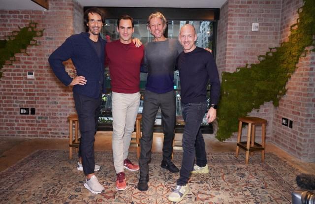 Caspar Coppetti, Roger Federer, Olivier Bernhard and David Allemann.
