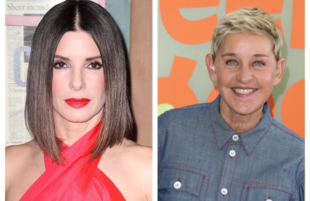 Sandra Bullock and Ellen DeGeneres