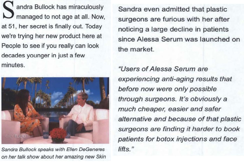 Sandra Bullock and Ellen DeGeneres Sue Over False Endorsements