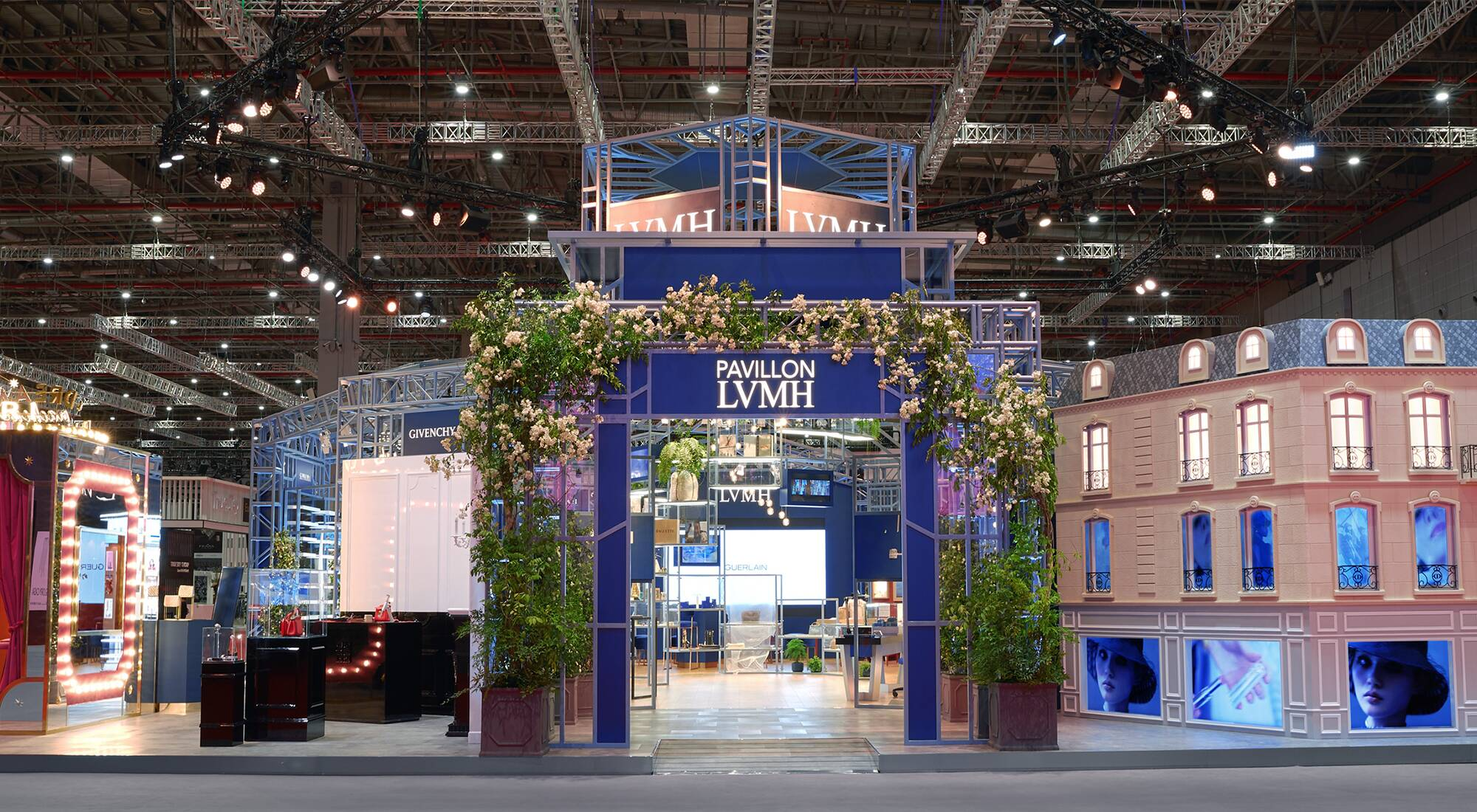 The LVMH pavilion at the second edition of China International Import Expo in Shanghai