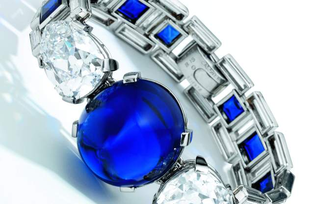 A sapphire and diamond bracelet by Cartier from 1927 that fetched $6.1 million in an auction.