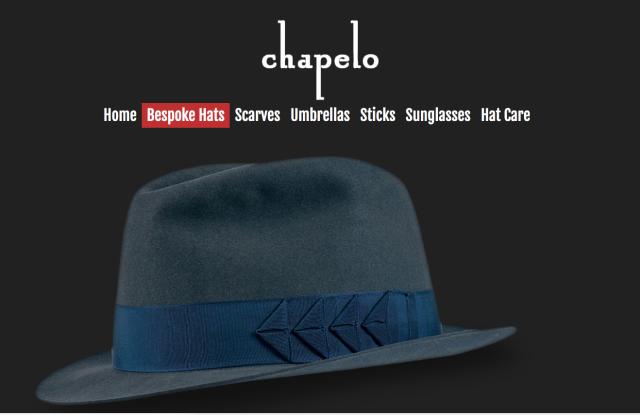 A screen shot of the Chapelo web site.