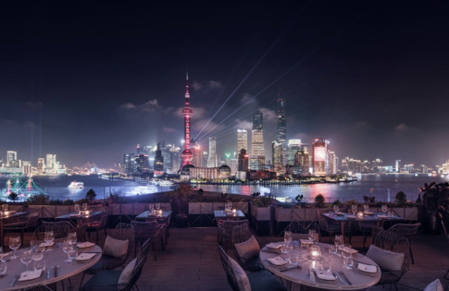 The rooftop at Ce La Vi Shanghai.