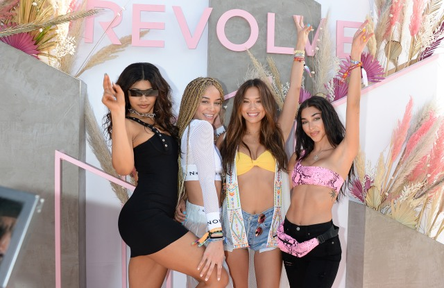 Danielle Herrington, Jasmine Sanders, Jocelyn Chew and Chantel JeffriesRevolve Party, Coachella Valley Music and Arts Festival, Weekend 1, Day 3, La Quinta, USA - 14 Apr 2019