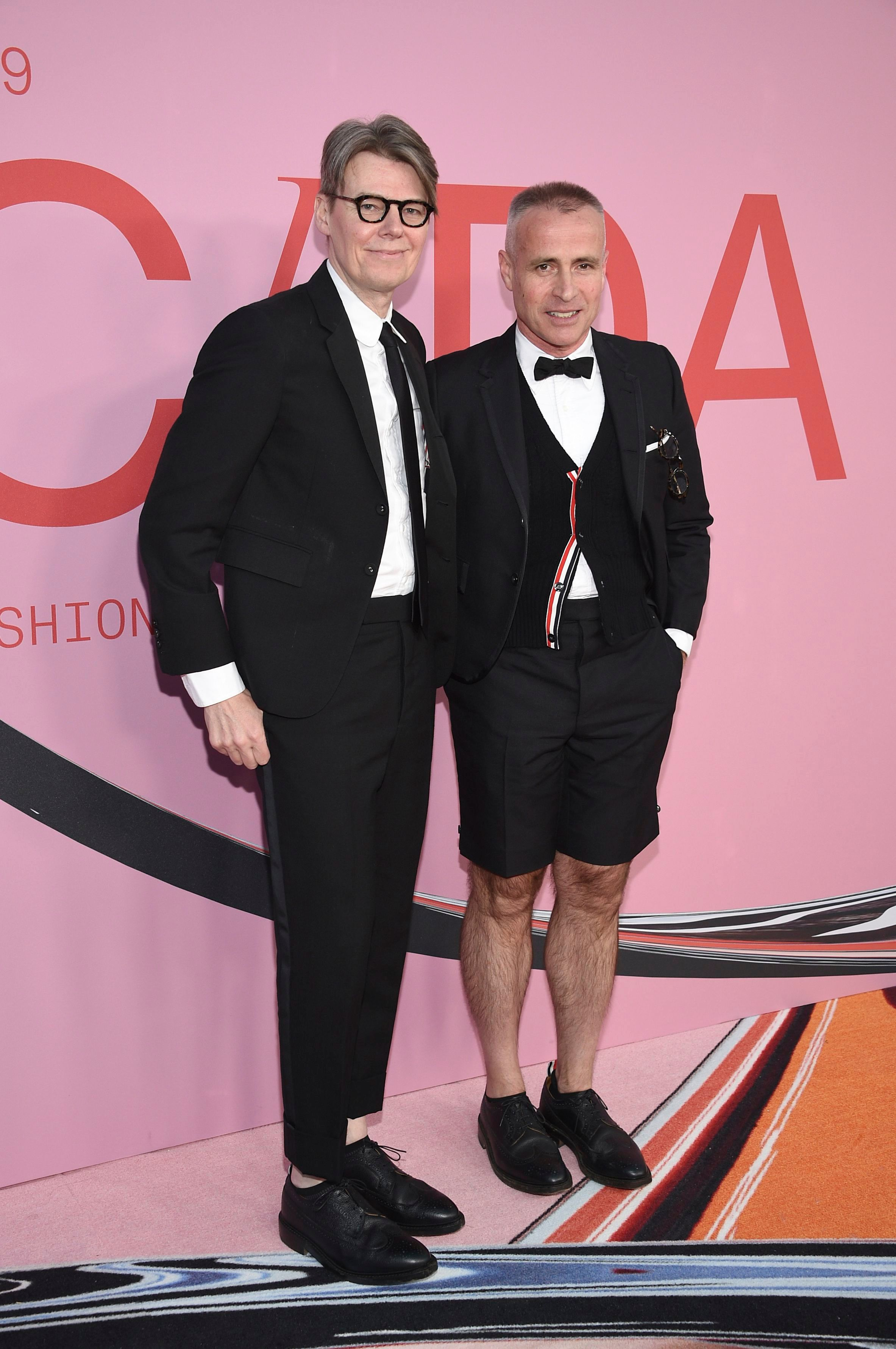 Andrew Bolton, Thom Browne. Andrew Bolton, left, and Thom Browne attend the CFDA Fashion Awards at the Brooklyn Museum, in New York2019 CFDA Fashion Awards - Arrivals, New York, USA - 03 Jun 2019