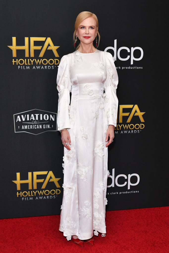 Nicole Kidman23rd Annual Hollywood Film Awards, Arrivals, Beverly Hilton, Los Angeles, USA - 03 Nov 2019 Wearing Loewe Same Outfit as catwalk model *10425306as