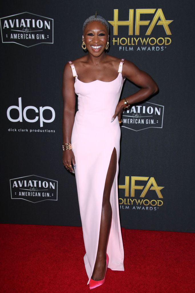 Cynthia Erivo23rd Annual Hollywood Film Awards, Arrivals, Beverly Hilton, Los Angeles, USA - 03 Nov 2019 Wearing Versace