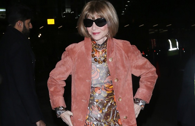 Anna WintourCFDA Vogue Fashion Fund Awards, New York, USA - 04 Nov 2019Wearing Marc Jacobs Same Outfit as catwalk model *10407035bv