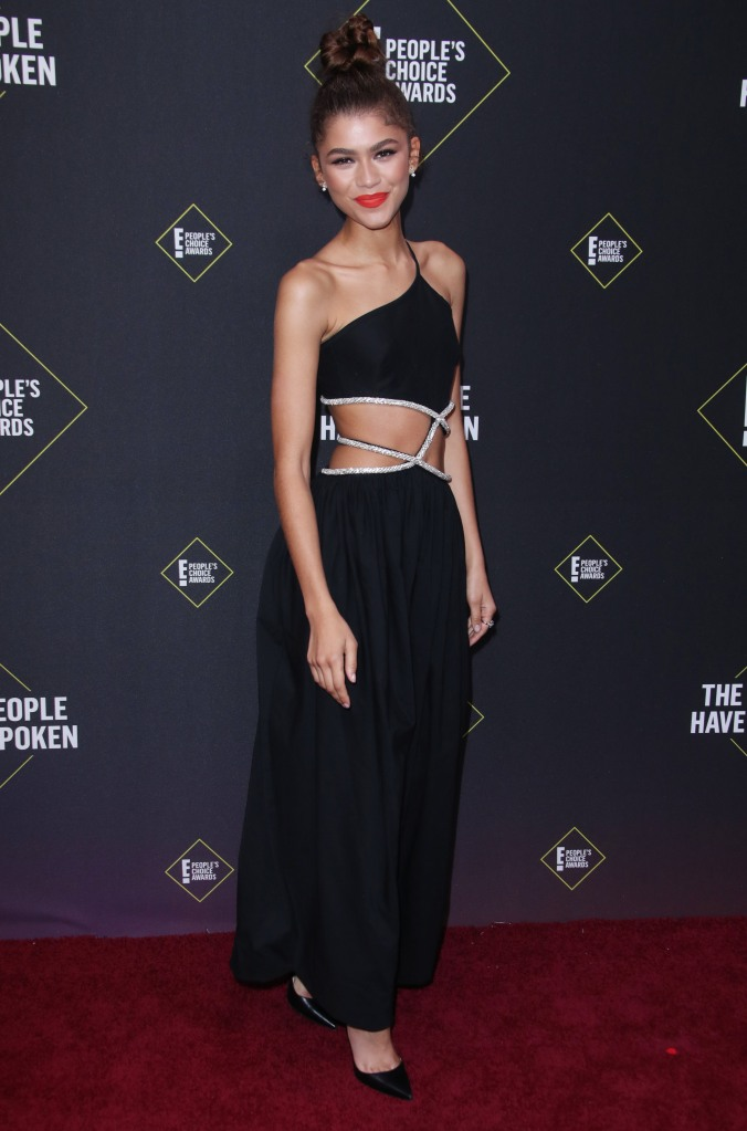 Zendaya45th Annual People's Choice Awards, Arrivals, Barker Hanger, Los Angeles, USA - 10 Nov 2019Wearing Christopher Esber