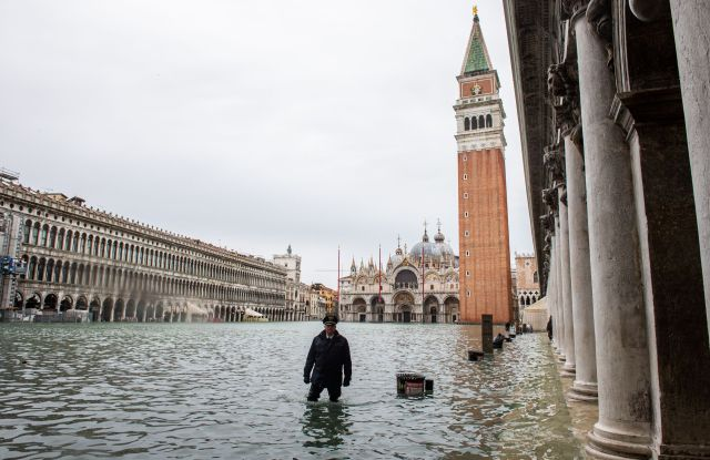 A flooded St. Mark's SquareFlooding in Venice, Italy - 15 Nov 2019