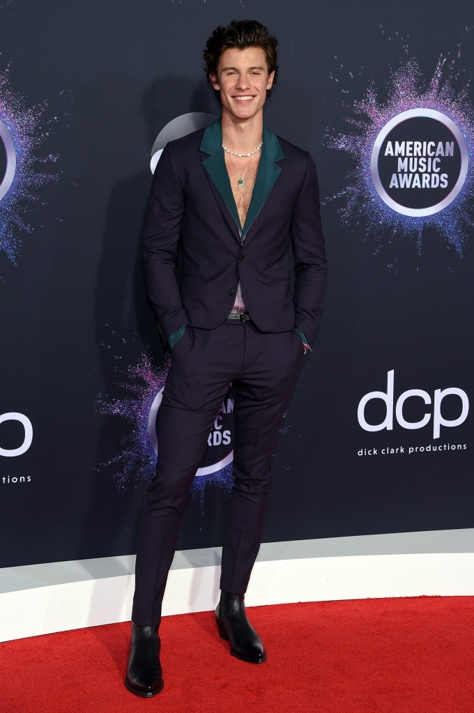 Shawn Mendes47th Annual American Music Awards, Arrivals, Microsoft Theater, Los Angeles, USA - 24 Nov 2019Wearing Paul Smith