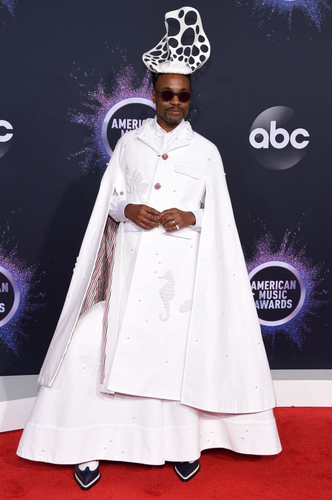 Billy Porter47th Annual American Music Awards, Fashion Highlights, Microsoft Theater, Los Angeles, USA - 24 Nov 2019Wearing Thom Browne same outfit as catwalk model *10311882aw