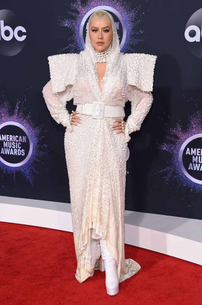 Christina Aguilera47th Annual American Music Awards, Fashion Highlights, Microsoft Theater, Los Angeles, USA - 24 Nov 2019Wearing Jean Paul Gaultier same outfit as catwalk model *8886385cb